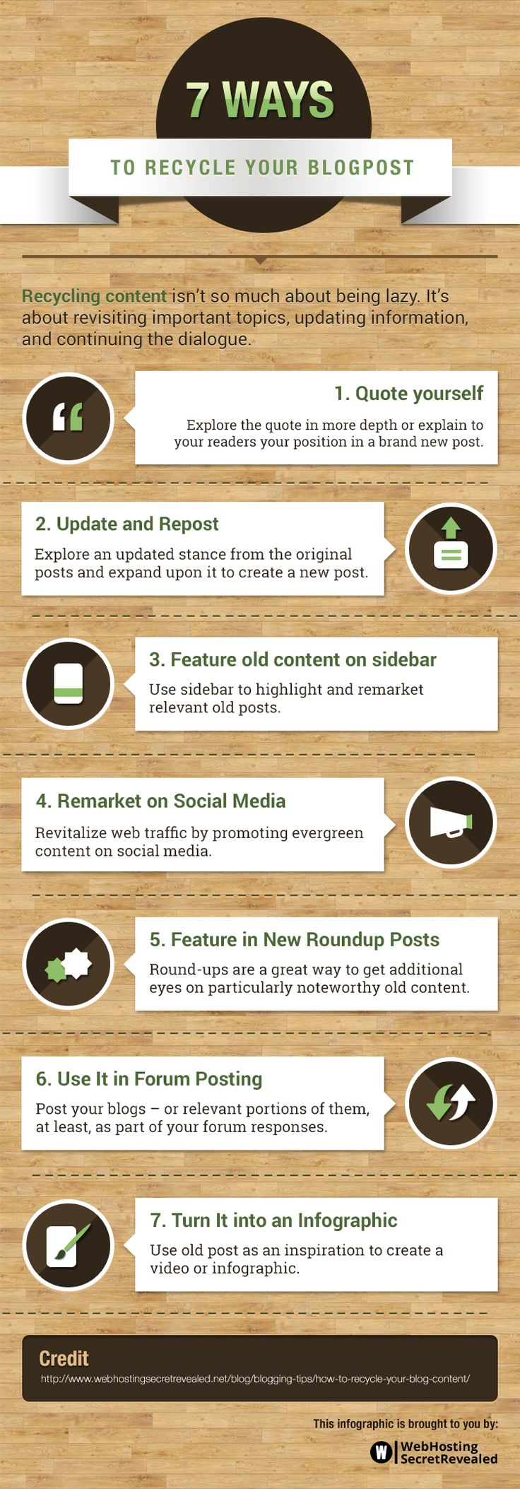 this infographic shows you how to recycle epic blog posts to get more value from them
