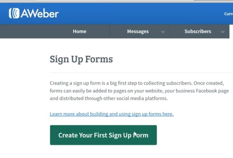 A pic showing you how to use aweber to build your email list step 9