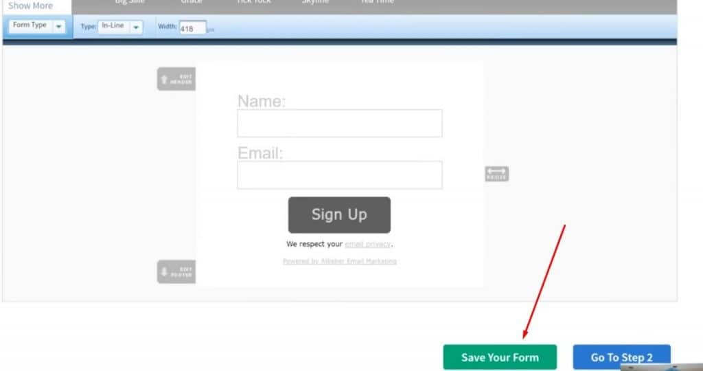 A pic showing you how to use aweber to build your email list step 10